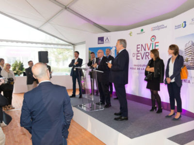 influence factory pour les résidences Lumenia et Evry-time, inauguration de la résidence Symphonie à Evry